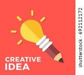 creative idea. glowing light... | Shutterstock .eps vector #692112172