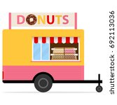 street donuts truck. showcase... | Shutterstock .eps vector #692113036