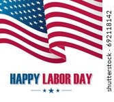 happy labor day greeting card... | Shutterstock .eps vector #692118142