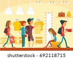 store interior. people go for... | Shutterstock .eps vector #692118715