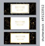 set of white  black and gold... | Shutterstock .eps vector #692123512