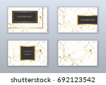 set of white and gold business... | Shutterstock .eps vector #692123542