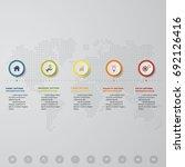 5 steps timeline process.... | Shutterstock .eps vector #692126416