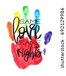 conceptual poster with hand... | Shutterstock .eps vector #692129986