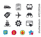 transport icons. car  airplane  ...