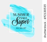 summer sale sign over... | Shutterstock .eps vector #692130535