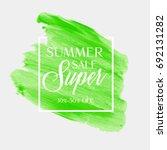 summer sale sign over... | Shutterstock .eps vector #692131282