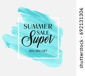 summer sale sign over... | Shutterstock .eps vector #692131306