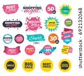 sale shopping banners. sale... | Shutterstock .eps vector #692132068