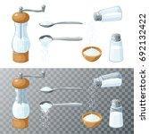 salt collection. transparent... | Shutterstock .eps vector #692132422