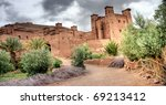 Hdr images of the Moroccan kasbah of Ait ben Haddou near quarzazate - stock photo