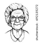 portrait of an old woman ... | Shutterstock .eps vector #692135272