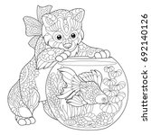 Coloring Page Of Kitten...
