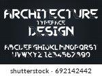 architecture draft drawing set... | Shutterstock .eps vector #692142442