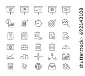 project manadgement line icons | Shutterstock .eps vector #692143108