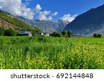 beautiful view on the way from... | Shutterstock . vector #692144848