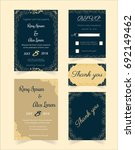 wedding invitation design... | Shutterstock .eps vector #692149462