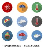 weather icons | Shutterstock .eps vector #692150056