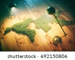 retro sustainable world concept.... | Shutterstock . vector #692150806
