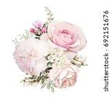 watercolor flowers. floral... | Shutterstock . vector #692151676