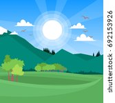 bright color landscape with... | Shutterstock .eps vector #692153926
