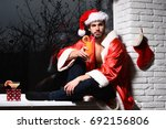 young handsome bearded sexy... | Shutterstock . vector #692156806