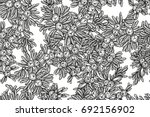 juniper tree vector seamless... | Shutterstock .eps vector #692156902