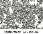 juniper tree vector seamless... | Shutterstock .eps vector #692156902