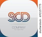 logo letter combinations s  c... | Shutterstock .eps vector #692157775