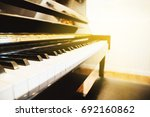Piano Keyboard  Background Wit...