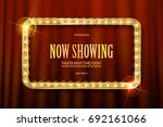 bright red marquee with light... | Shutterstock .eps vector #692161066
