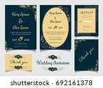 wedding invitation design... | Shutterstock .eps vector #692161378