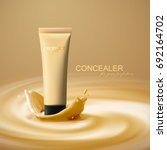 liquid foundation cream tube... | Shutterstock .eps vector #692164702