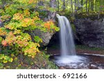 michigan waterfall with autumn... | Shutterstock . vector #692166