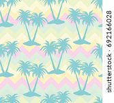 palm tree  pattern  vector ... | Shutterstock .eps vector #692166028