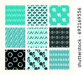 set of 9 styled  ultimate hand... | Shutterstock .eps vector #692169556