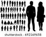 set of silhouettes of men and... | Shutterstock .eps vector #692169658