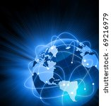 best internet concept of global ... | Shutterstock . vector #69216979