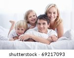 attractive young family with... | Shutterstock . vector #69217093