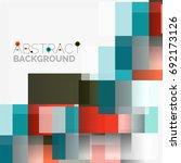abstract vector blocks template ...   Shutterstock .eps vector #692173126
