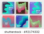 modern abstract covers set.... | Shutterstock .eps vector #692174332