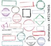 stamps frames | Shutterstock .eps vector #692174836