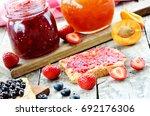 Two Jars Of Fruit Jam  ...