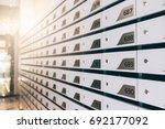 mailbox shallow dof mailboxes... | Shutterstock . vector #692177092