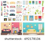 modern interiors of two... | Shutterstock . vector #692178136