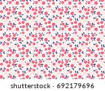 trendy seamless vector floral... | Shutterstock .eps vector #692179696