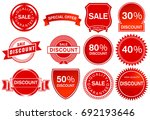 sale label elements ... | Shutterstock . vector #692193646