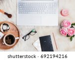woman's workplace concept. work ... | Shutterstock . vector #692194216