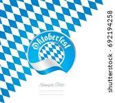 oktoberfest bavaria flag ribbon ... | Shutterstock .eps vector #692194258