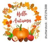 hello autumn vector...   Shutterstock .eps vector #692196388